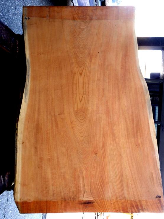 欅 1290×720~920(耳内側幅)×60 耳付き板です。幅方向に少し反りがあります。座卓やローテーブルに最適です。
