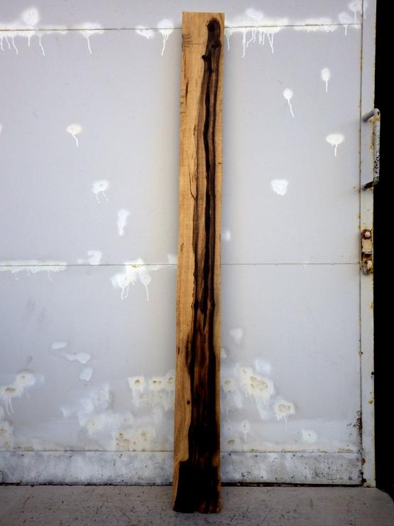 黒柿 長さ1790ミリ×幅150ミリ×厚さ65ミリ 表面に割れがあります