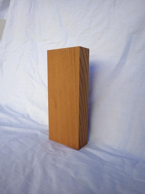 欅 表札 高さ210ミリ×幅88ミリ×厚さ36ミリ