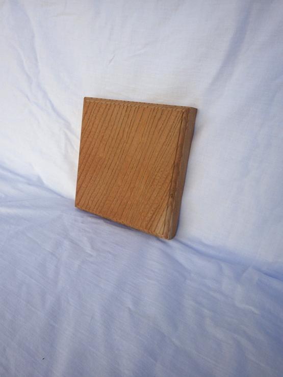欅 ネームプレート(表札) 高さ150ミリ×幅150ミリ×厚さ25ミリ