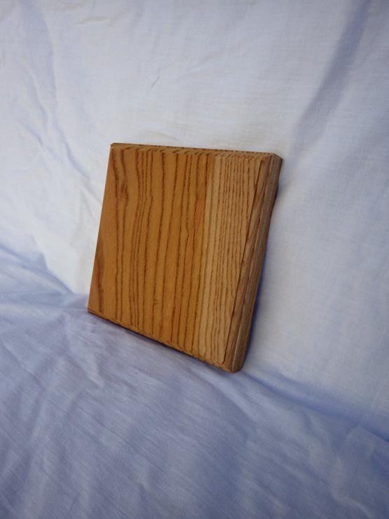 欅 ネームプレート(表札) 高さ150ミリ×幅150ミリ×厚さ21ミリ