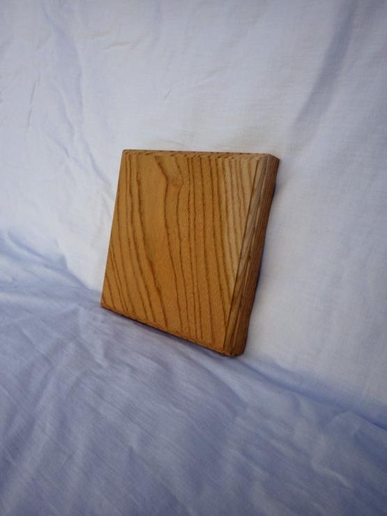 欅 ネームプレート(表札) 高さ150ミリ×幅150ミリ×厚さ21