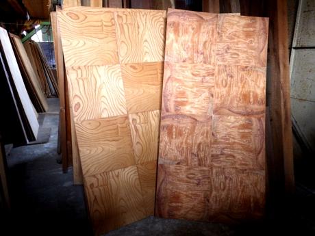 欅貼格天井板